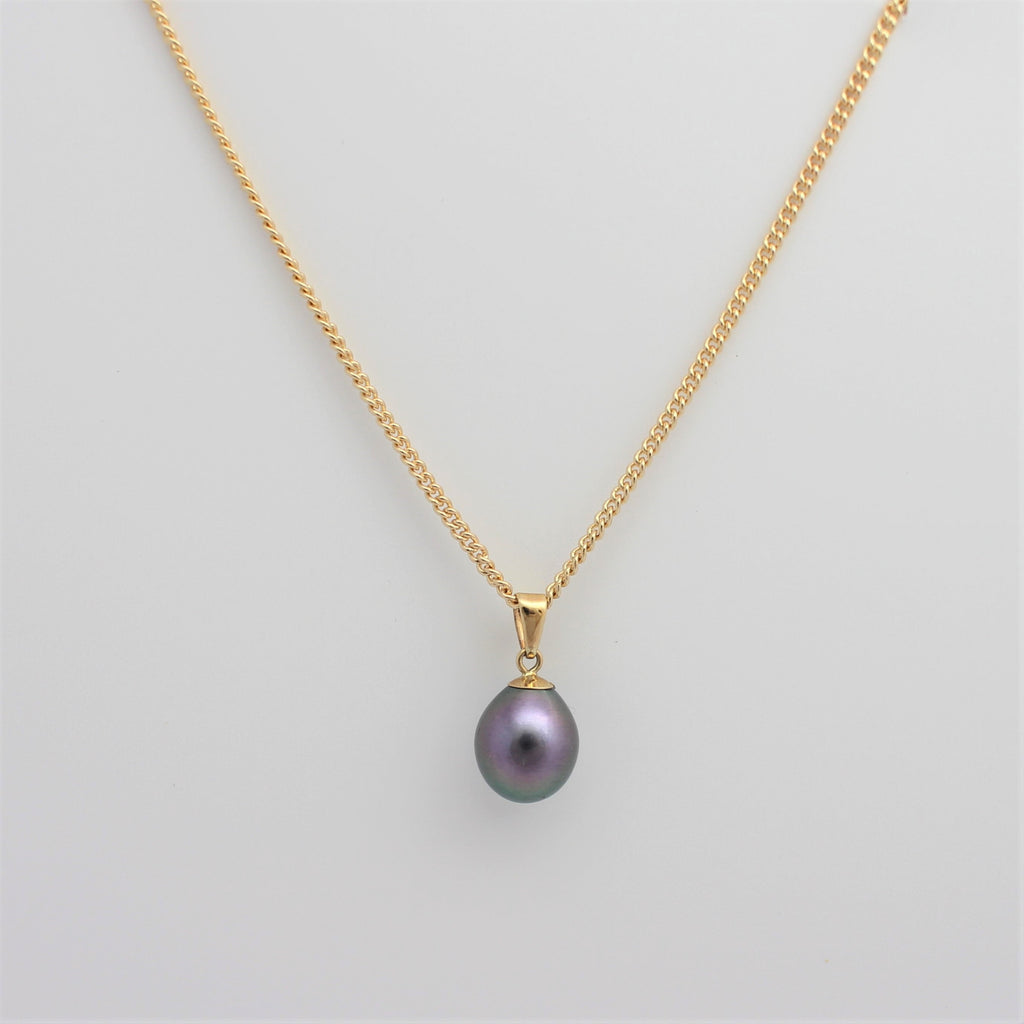 Classic Gold Freshwater Pearl Pendant
