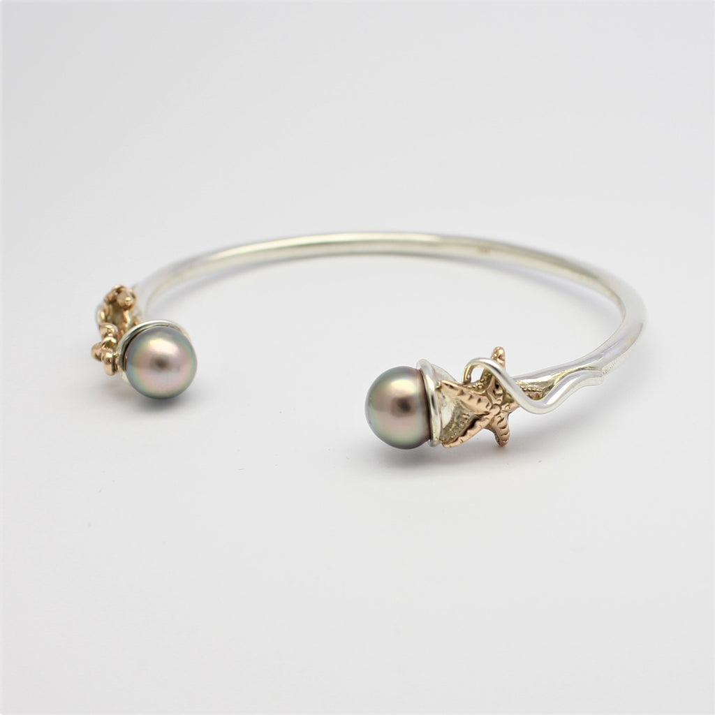 Basile Star and Anchor Bracelet Gold and Silver