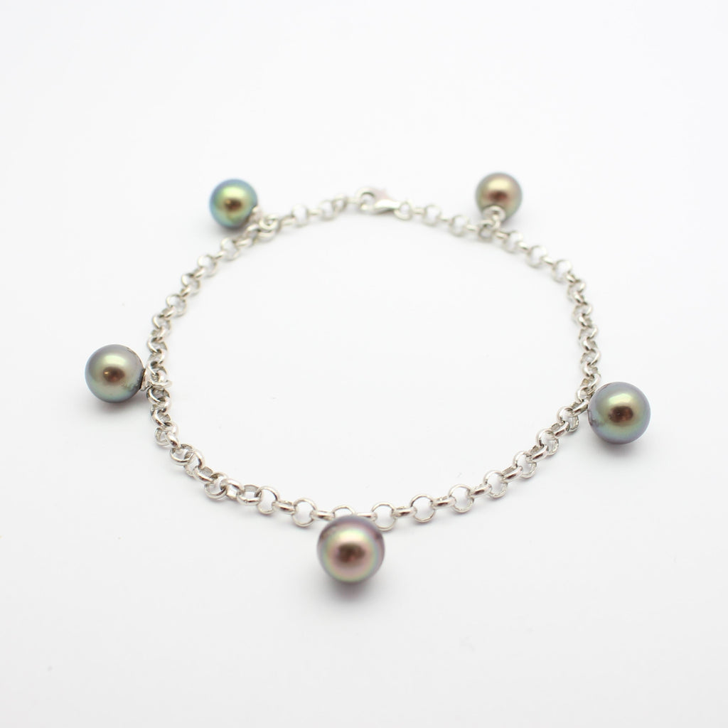 pearl jewelry freshwater italiana bracelet products luminous untitled black