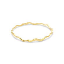 Load image into Gallery viewer, Island Bound Wave Yellow Gold Bangle