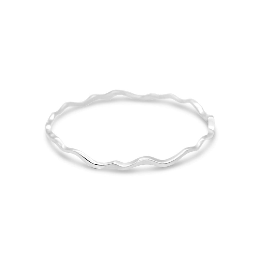 Island Bound Wave Silver Bangle