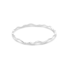 Load image into Gallery viewer, Island Bound Wave Silver Bangle