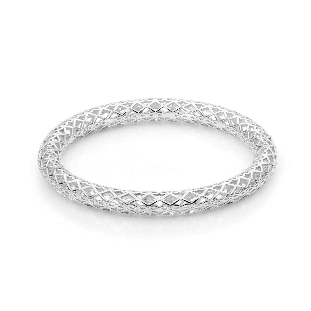 Moroccan Silver Tube Bangle