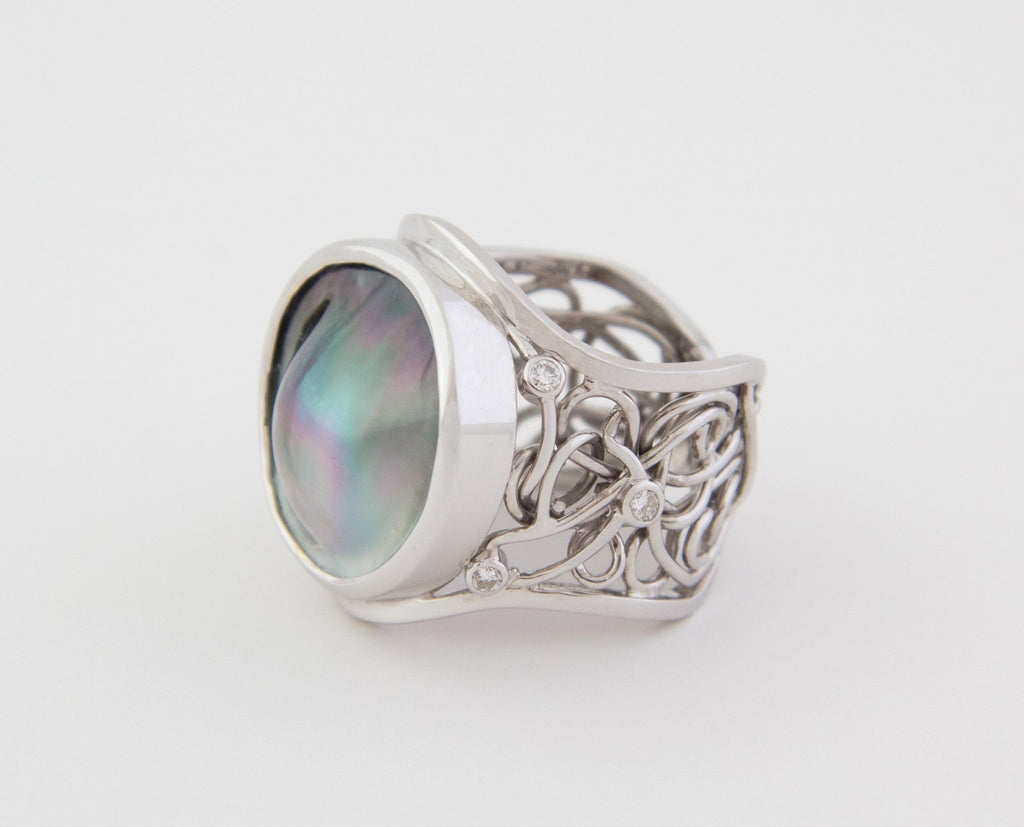 White Gold  Lexi Ring