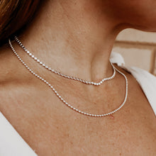 Load image into Gallery viewer, Sterling Silver Flat Bead Chain