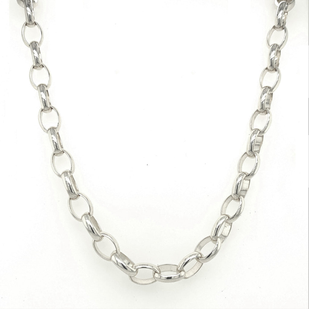 Sterling Silver Oval Belcher Chain
