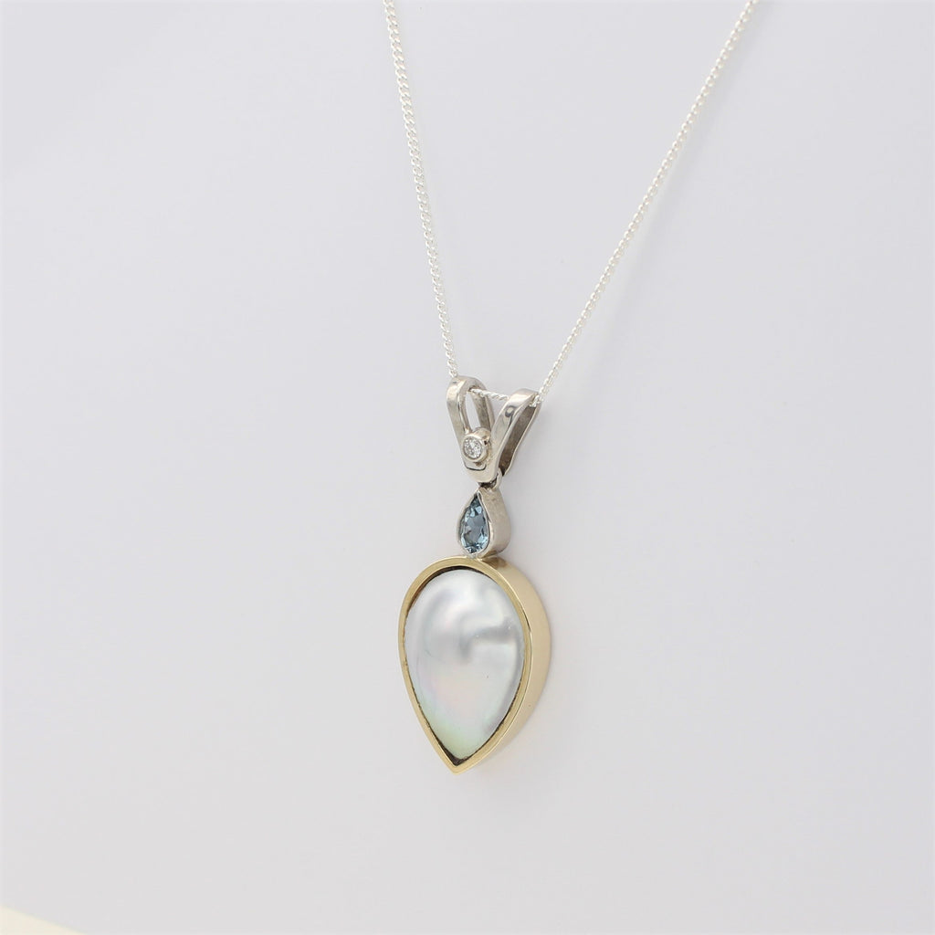 Abrolhos Mabe and Aquamarine Pearl Pendant