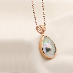 Rose Gold Abrolhos Mabe Pearl Pendant