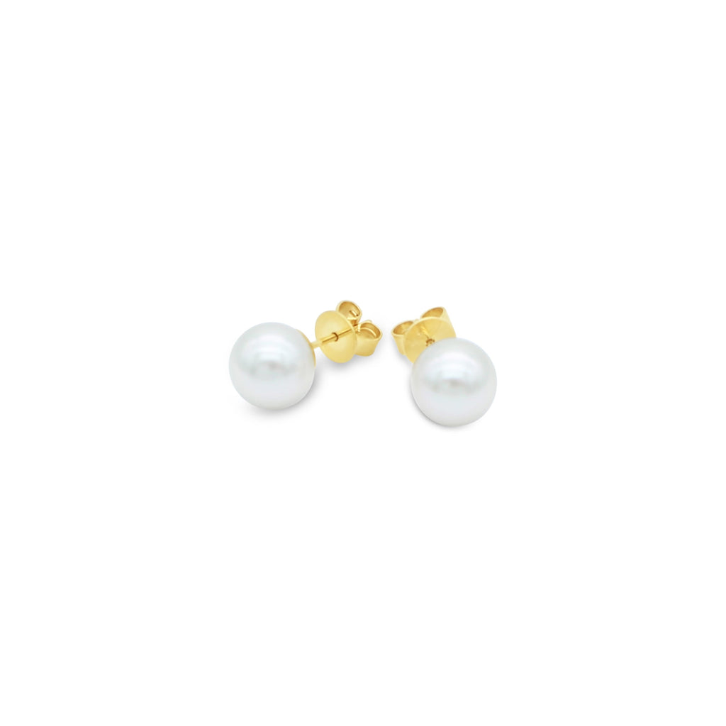 White South Sea Pearl Stud Earrings