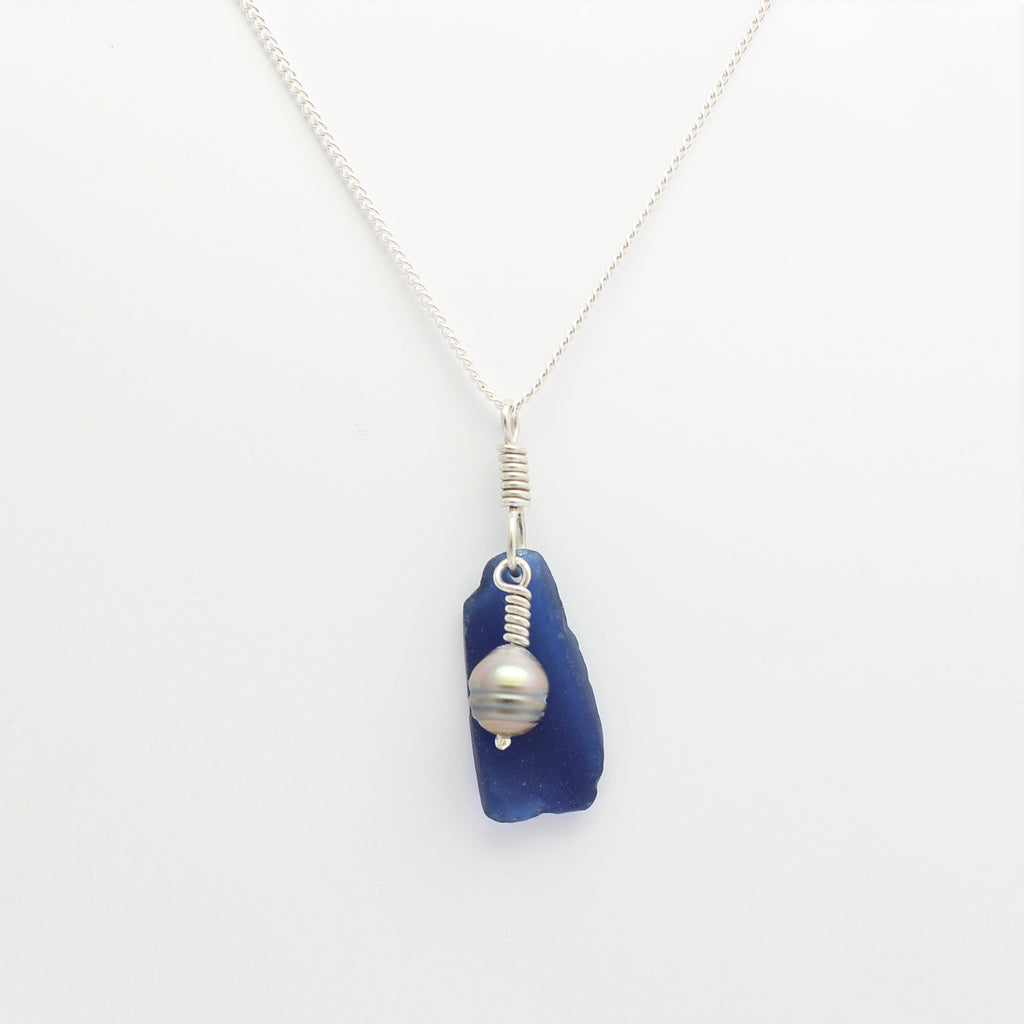 Sea Glass Pendant Abrolhos Island Circle Pearl
