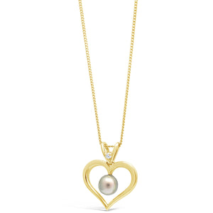 Abrolhos Heart Pendant Yellow gold