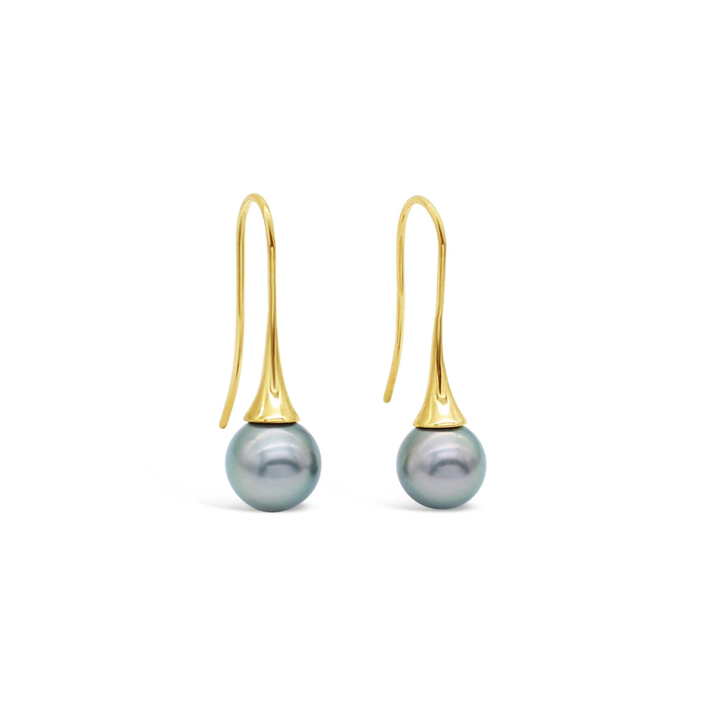 Abrolhos Island Pearl Flute Earrings (9-9.5mm)