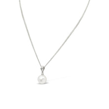 Load image into Gallery viewer, South Sea Pearl and Diamond Pendant in 9ct White Gold