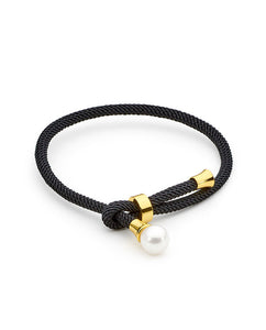 Black Thread Freshwater Pearl Bracelet