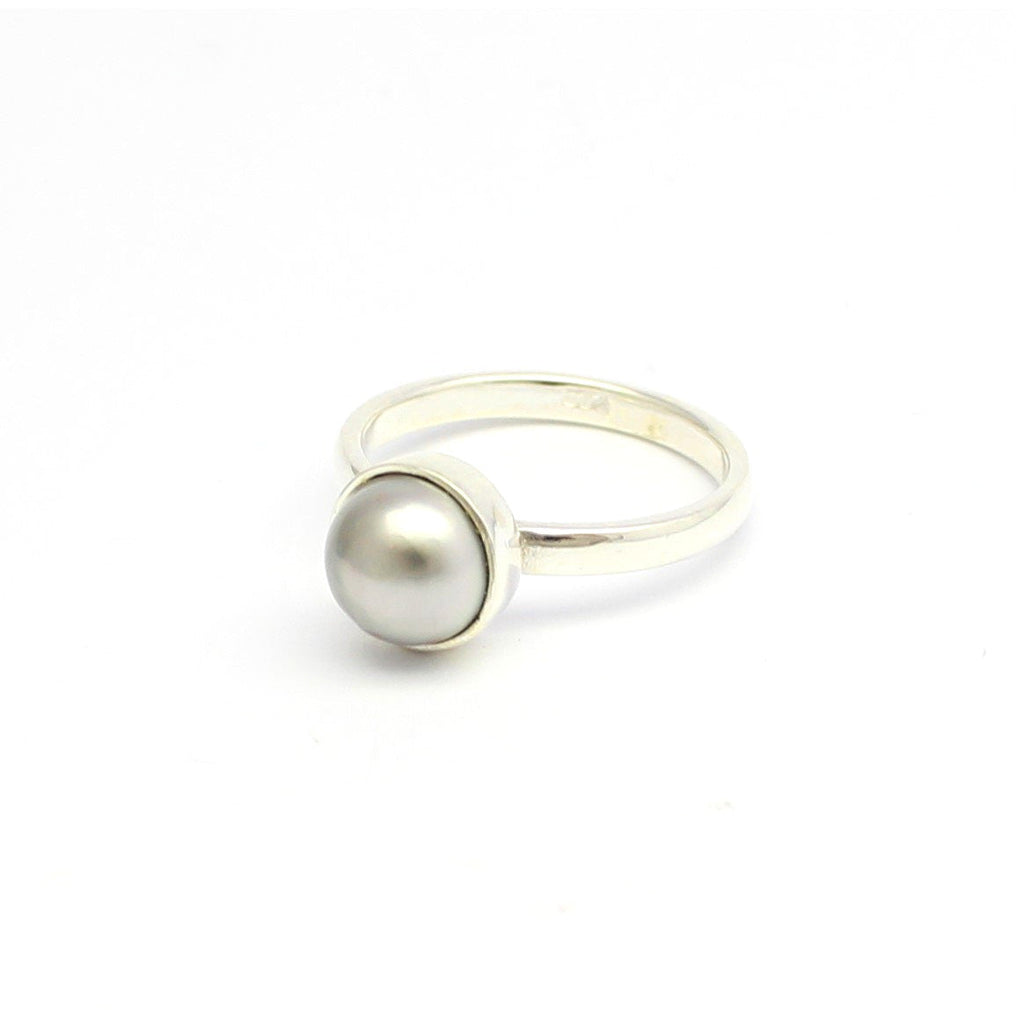 Abrolhos Half Pearl Silver Stacker