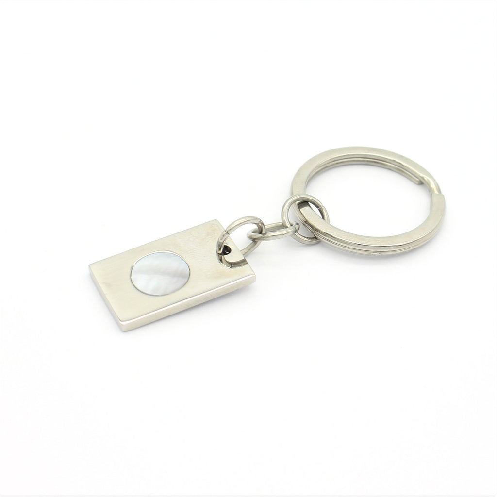 Key Ring featuring Mother of Pearl