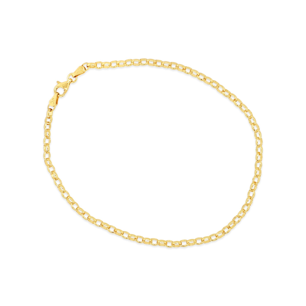 9ct Yellow Gold Belcher Link Anklet