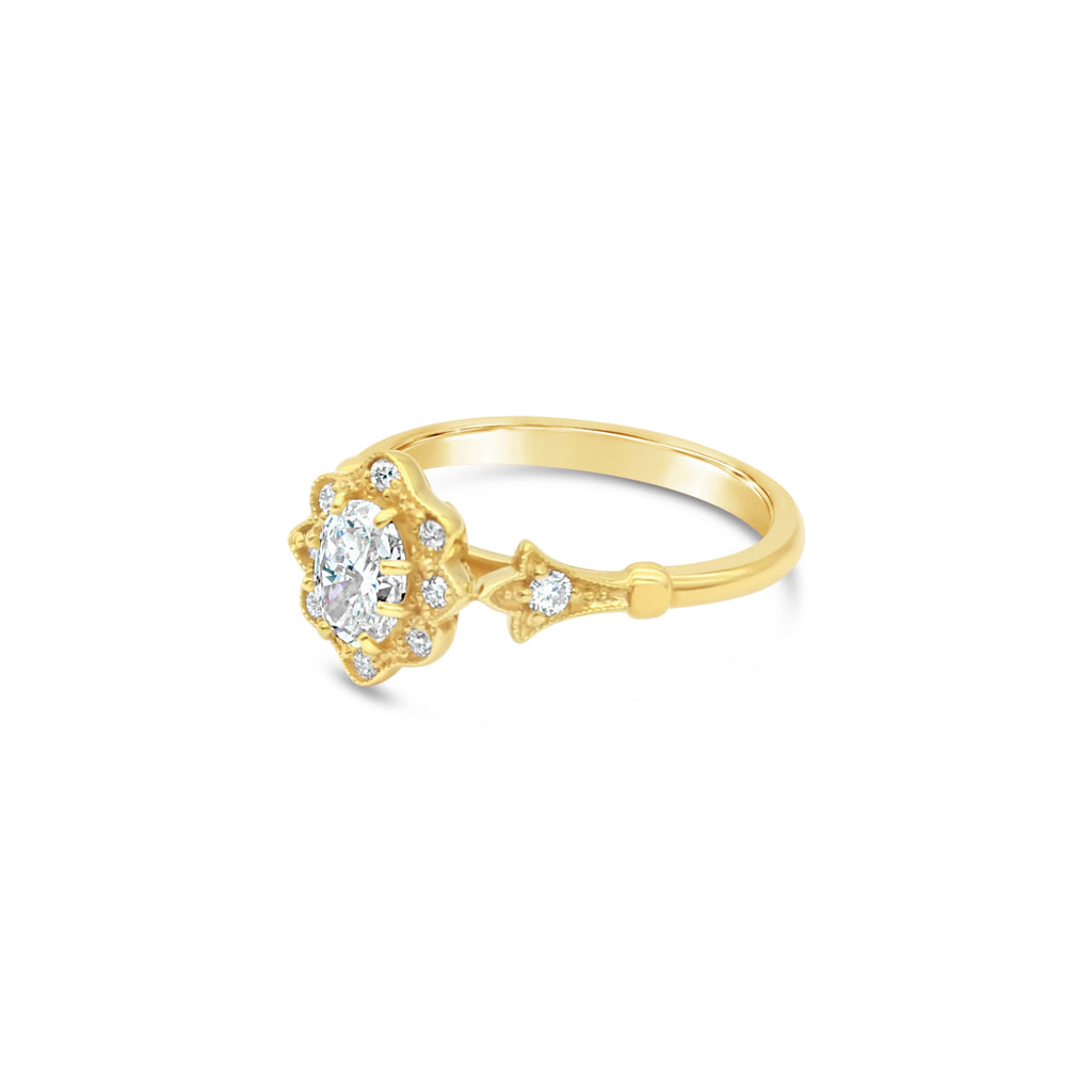 Aphrodite Diamond 9ct Yellow Gold Ring by OLYV