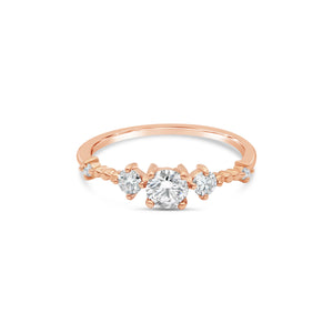 Stars Aligned Diamond 9ct Rose Gold Ring by OLYV