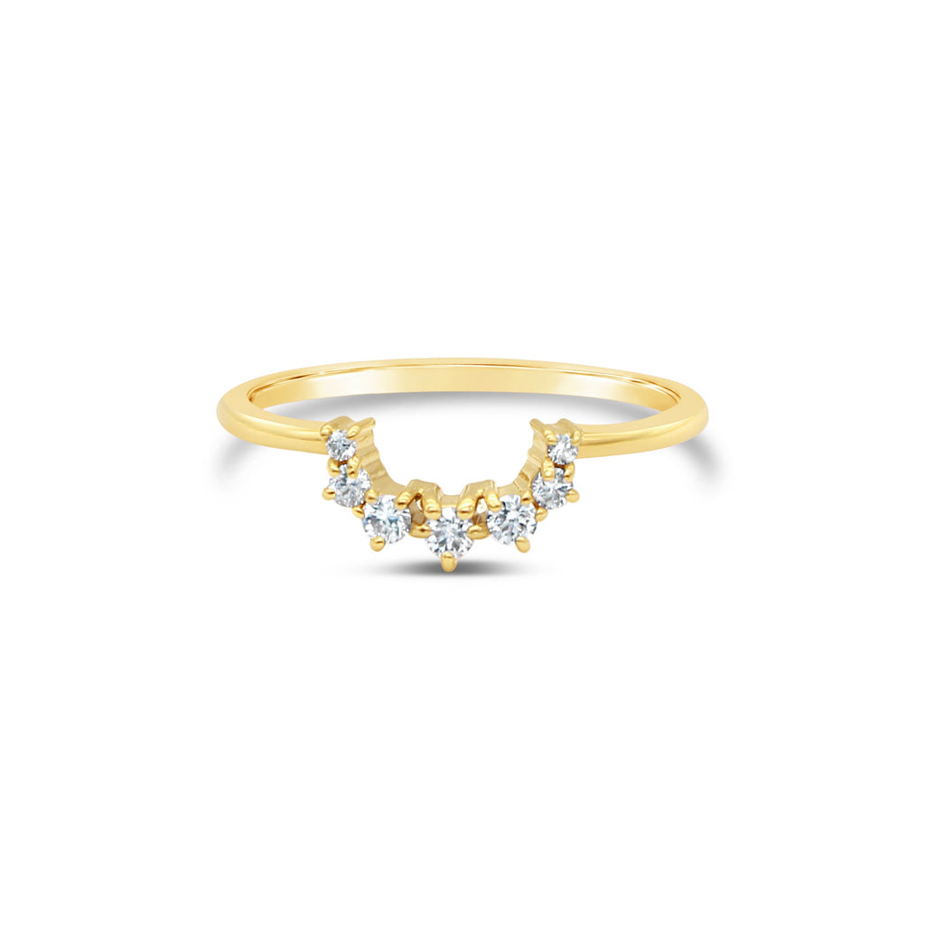 Gaia's Halo Diamond 9ct Yellow Gold Ring by OLYV