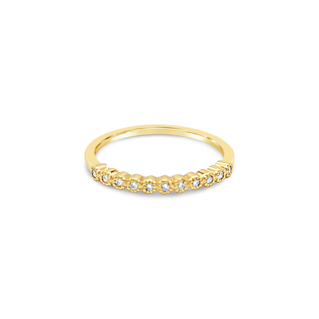 Eternity 9ct Yellow Gold Diamond Ring by OLYV