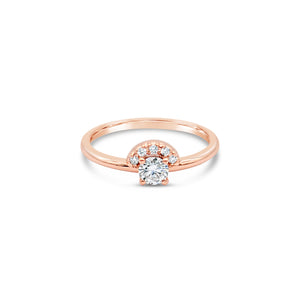 Helios Rose Diamond Ring by OLYV