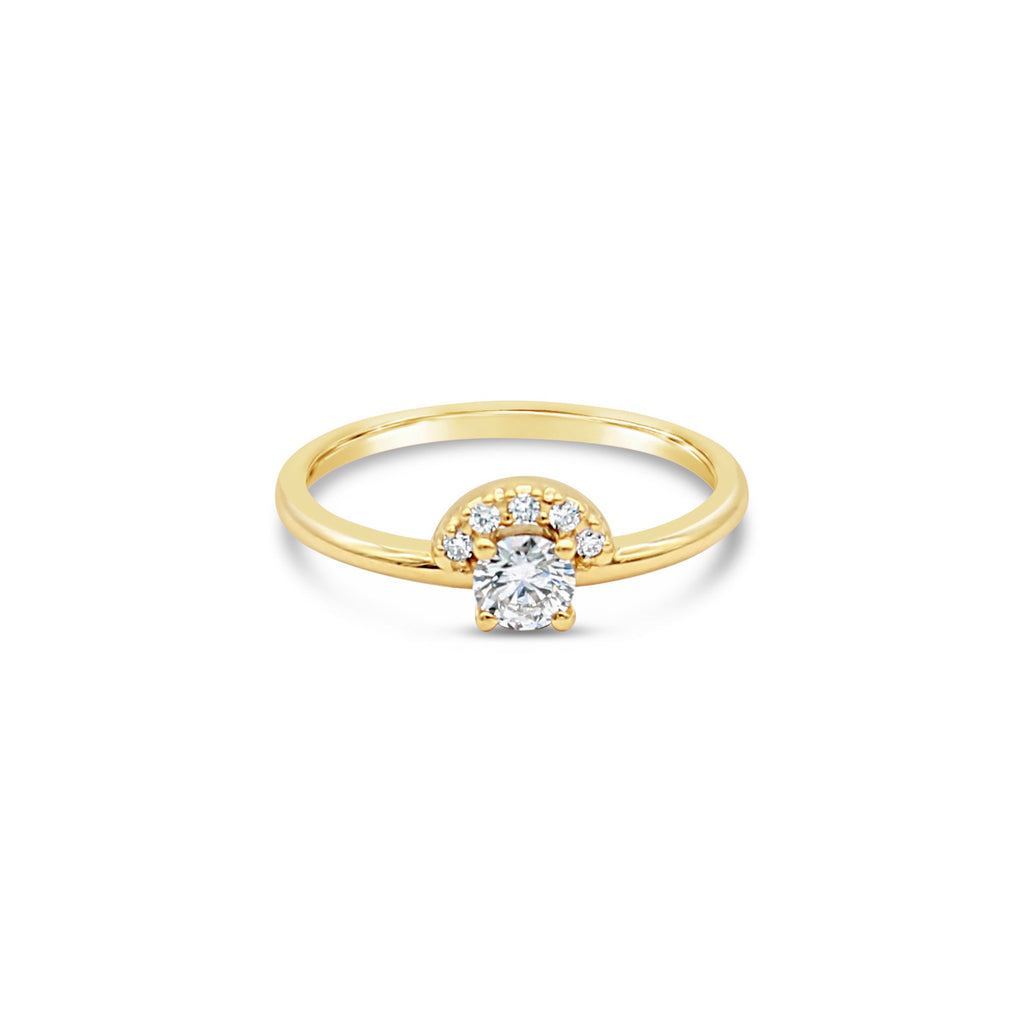 Helios 9ct Yellow Gold Diamond Ring by OLYV