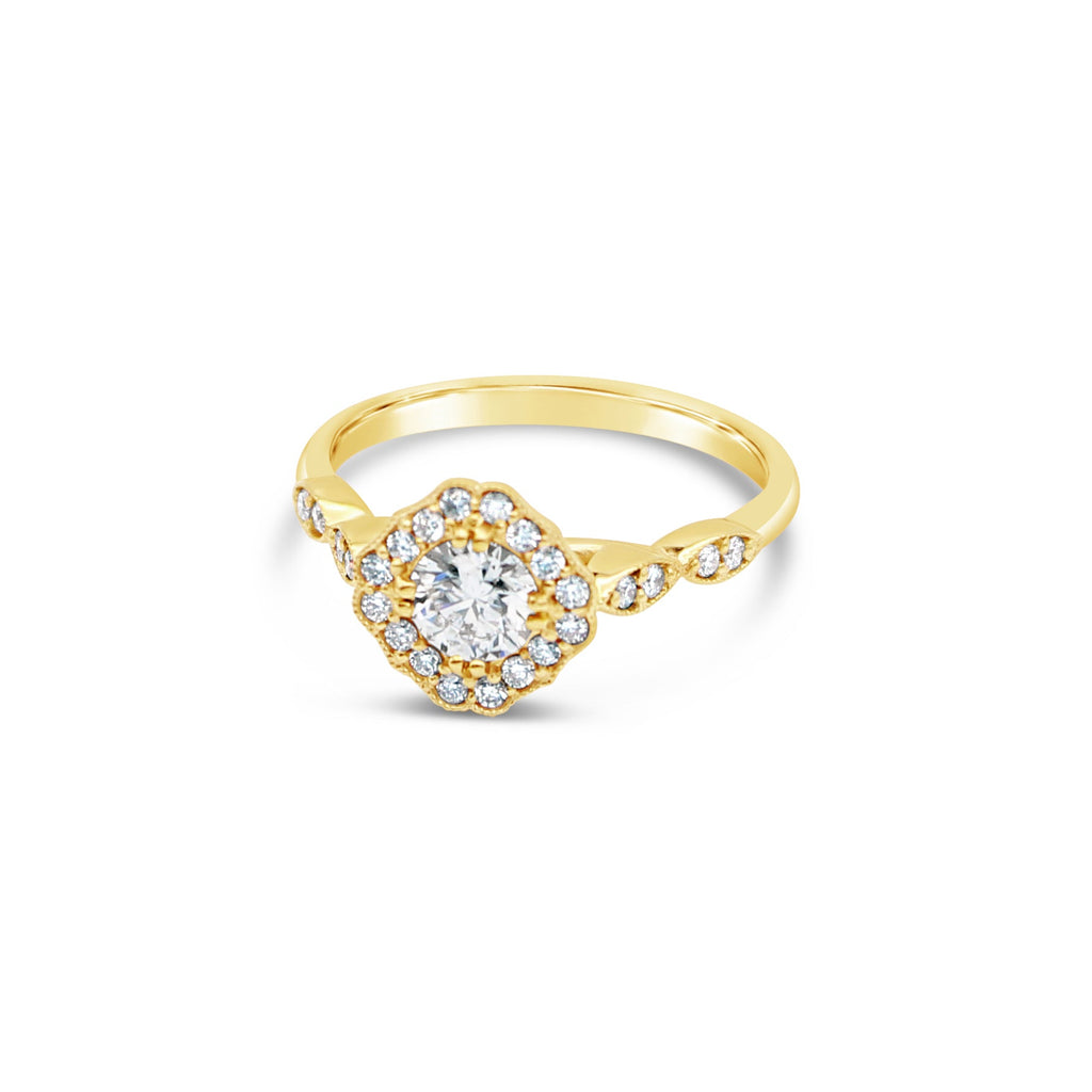 Juno Diamond 9ct Yellow Gold Ring by OLYV