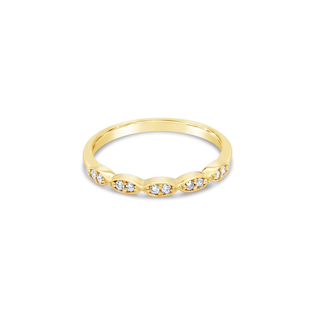 Synchronicity Diamond 9ct Yellow Gold Ring by OLYV