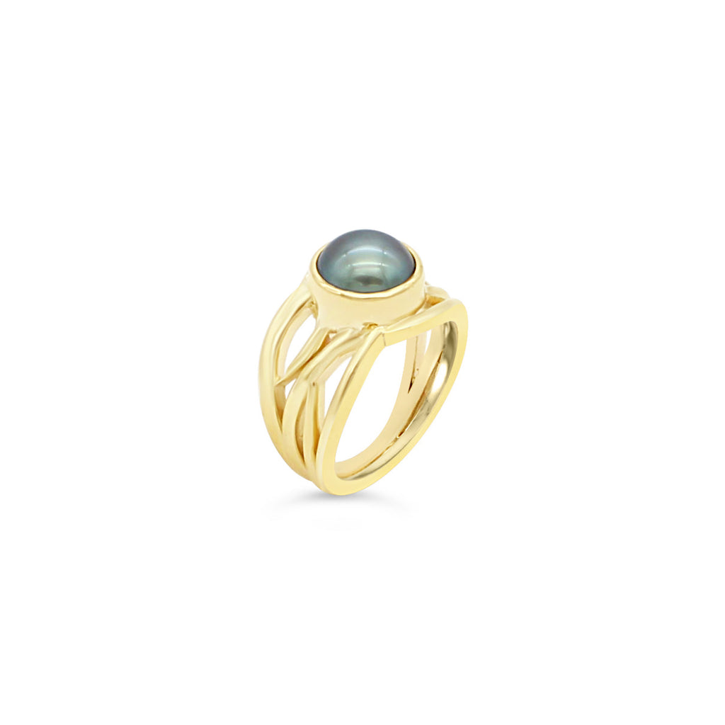 Abrolhos Pearl Yellow Bella 9ct Ring
