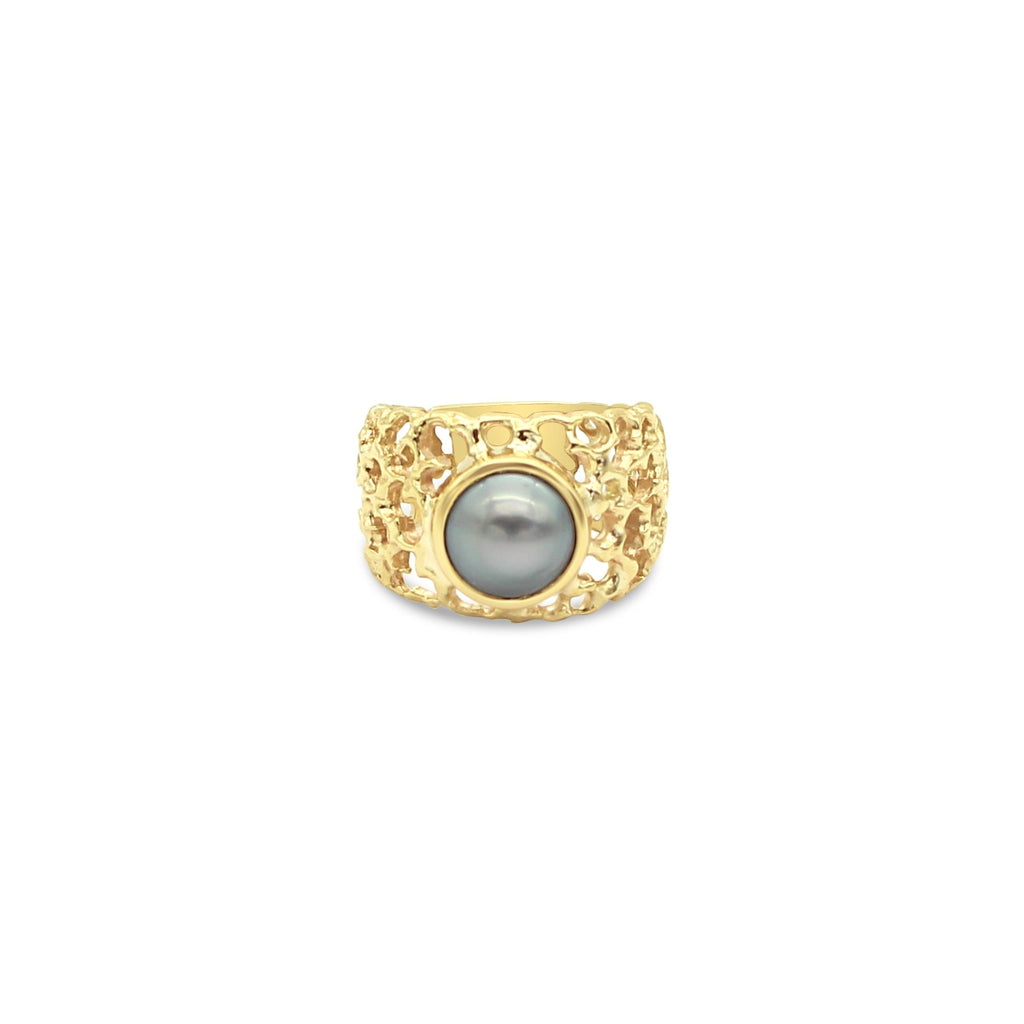 Abrolhos Pearl Coral Ring 9ct Yellow gold