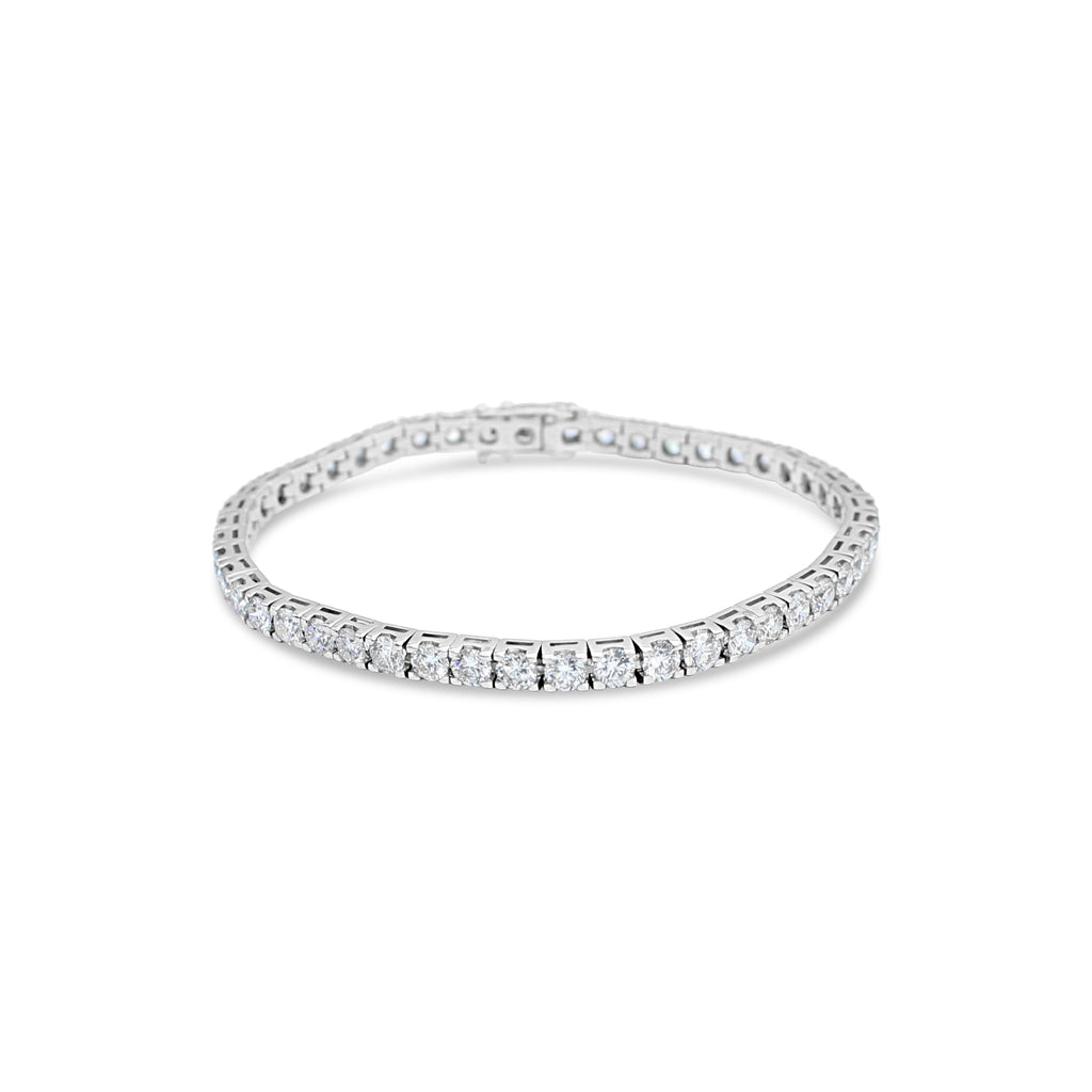 18ct White Gold Tennis Bracelet TCW=7.5ct