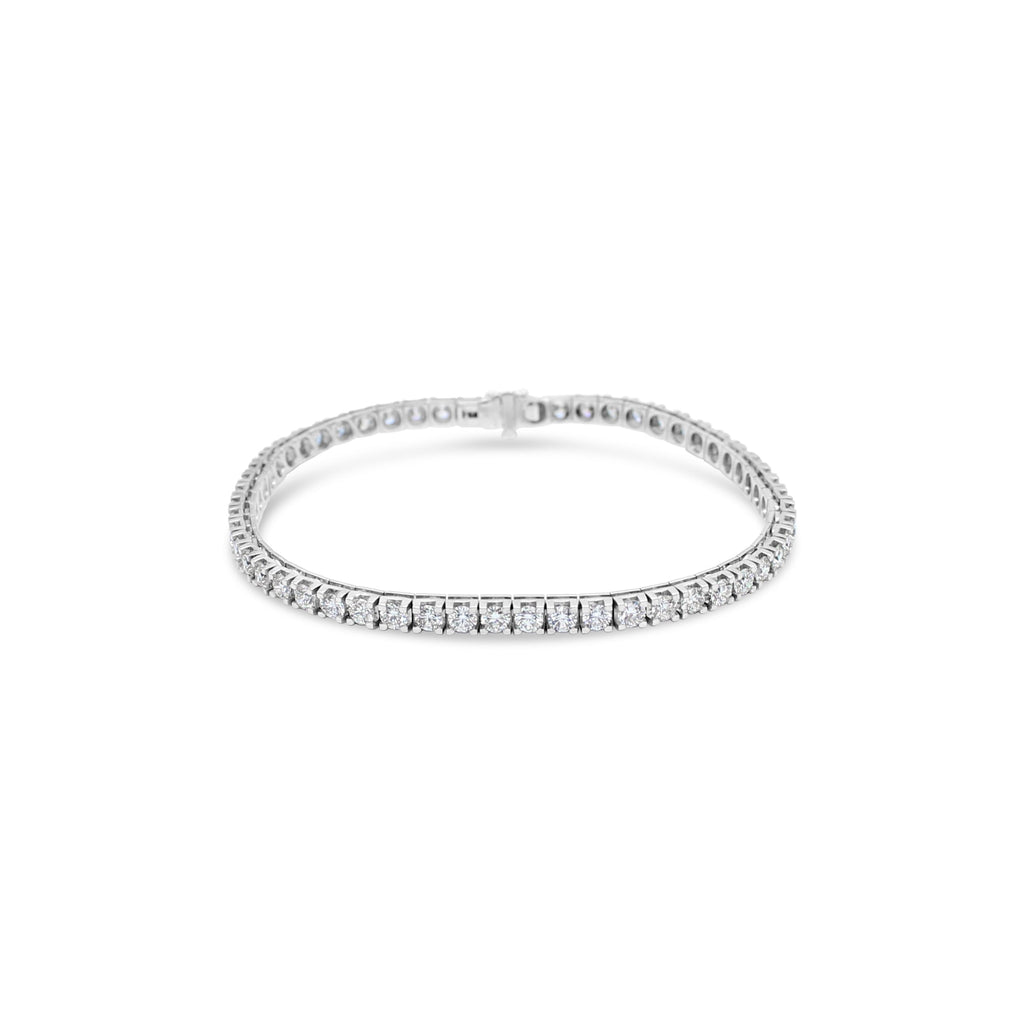 18ct White Gold Tennis Bracelet TCW=4.5ct