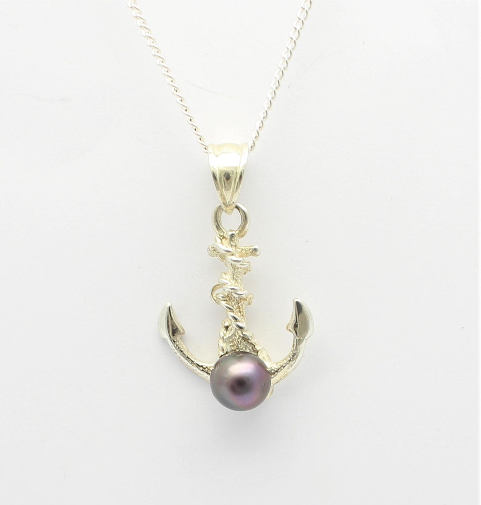 9ct White Gold Anchor Abrolhos Pearl