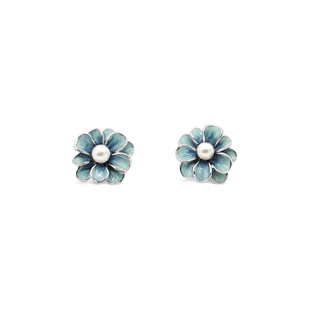 Latitude Enamel Flower Earrings