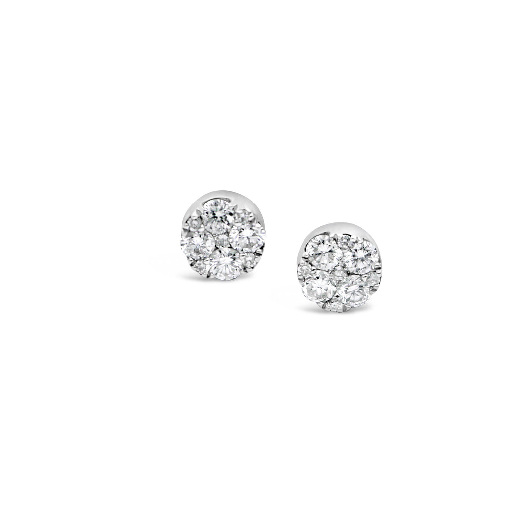 9ct White Gold Diamond Earrings TCW=0.53ct