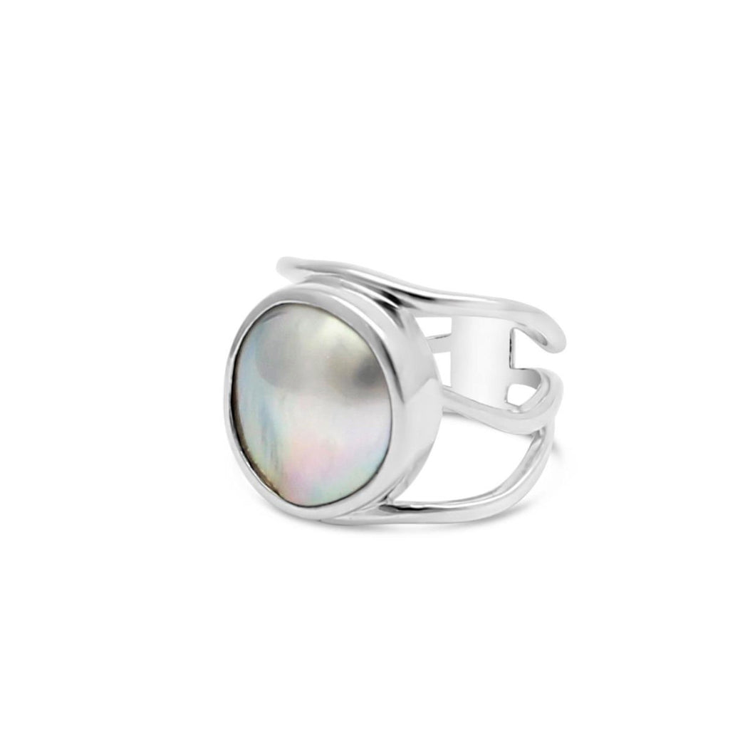 Open Silver Lexi Ring