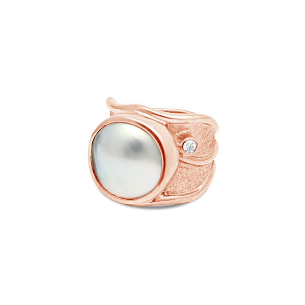 Solid Rose Gold Lexi Sparkle Ring