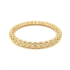 Moroccan Gold Tube Bangle