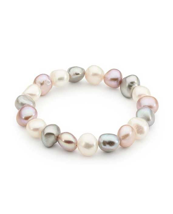 Multi coloured Freshwater Pearl Bracelet