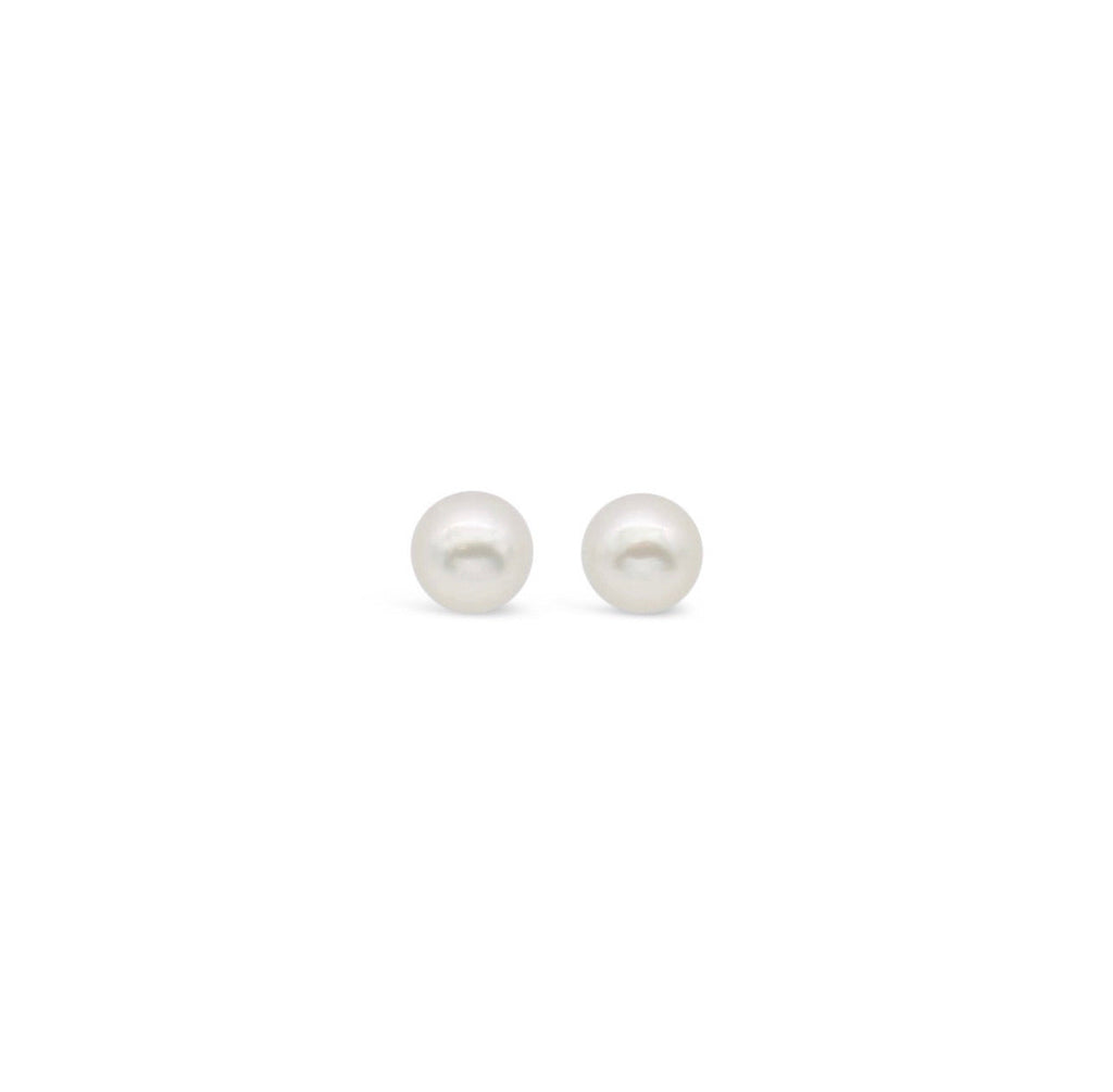 White South Sea Pearl Stud Earrings 9ct White Gold
