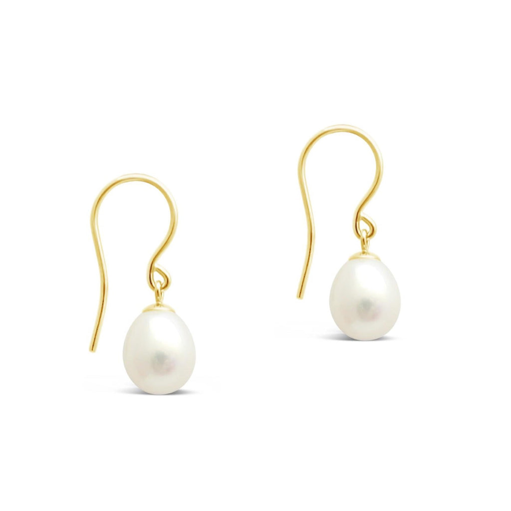 Large Gold Hook Freshwater Pearl Earrings