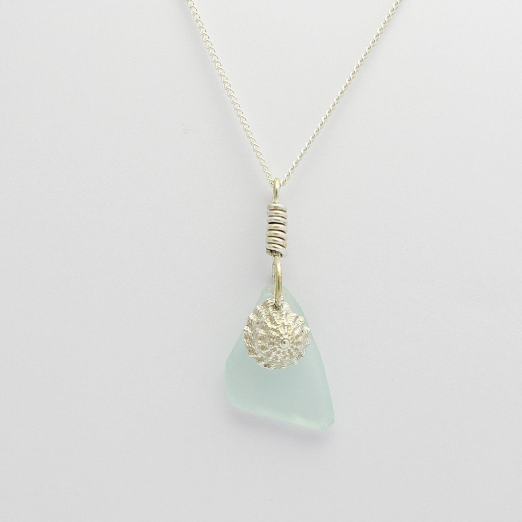 Sea Glass Pendant With Abrolhos Island Shell Charm