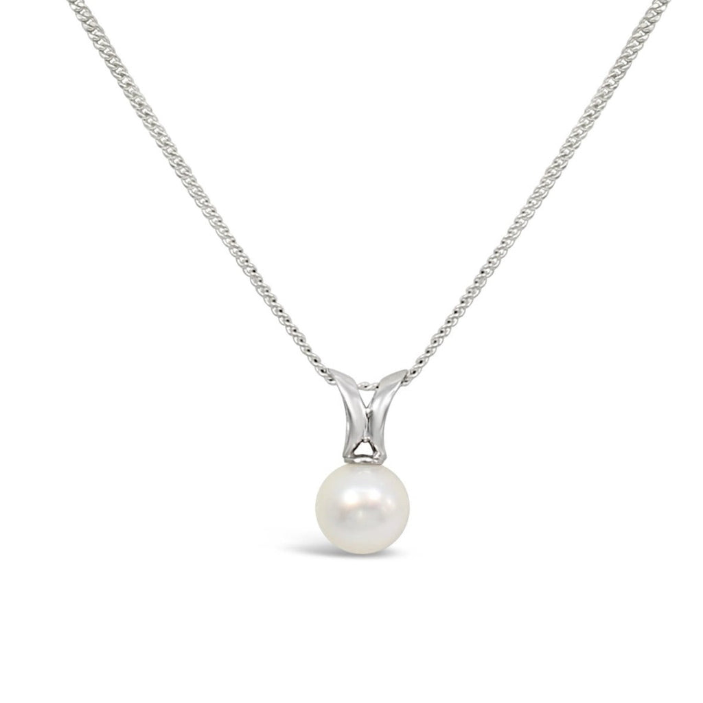 South Sea Pearl on 9ct White Gold Split Bail Pendant