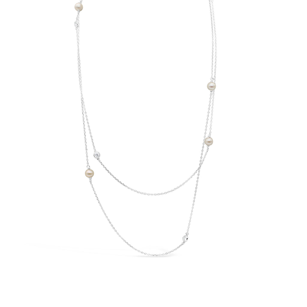 Silver Freshwater Pearl Necklet