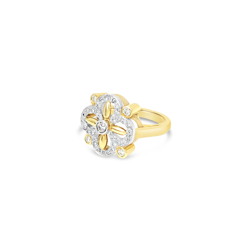 'Lucky Clovers' Ring