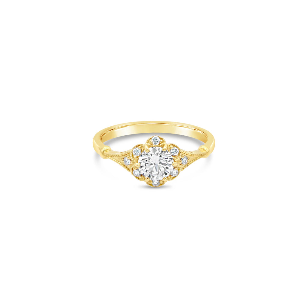 Athena Diamond 9ct Yellow Gold Ring by OLYV