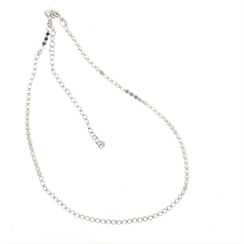 Sterling Silver Flat Bead Chain