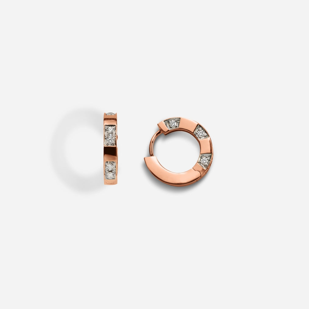 Savor 18k Rose Gold Diamond Earring