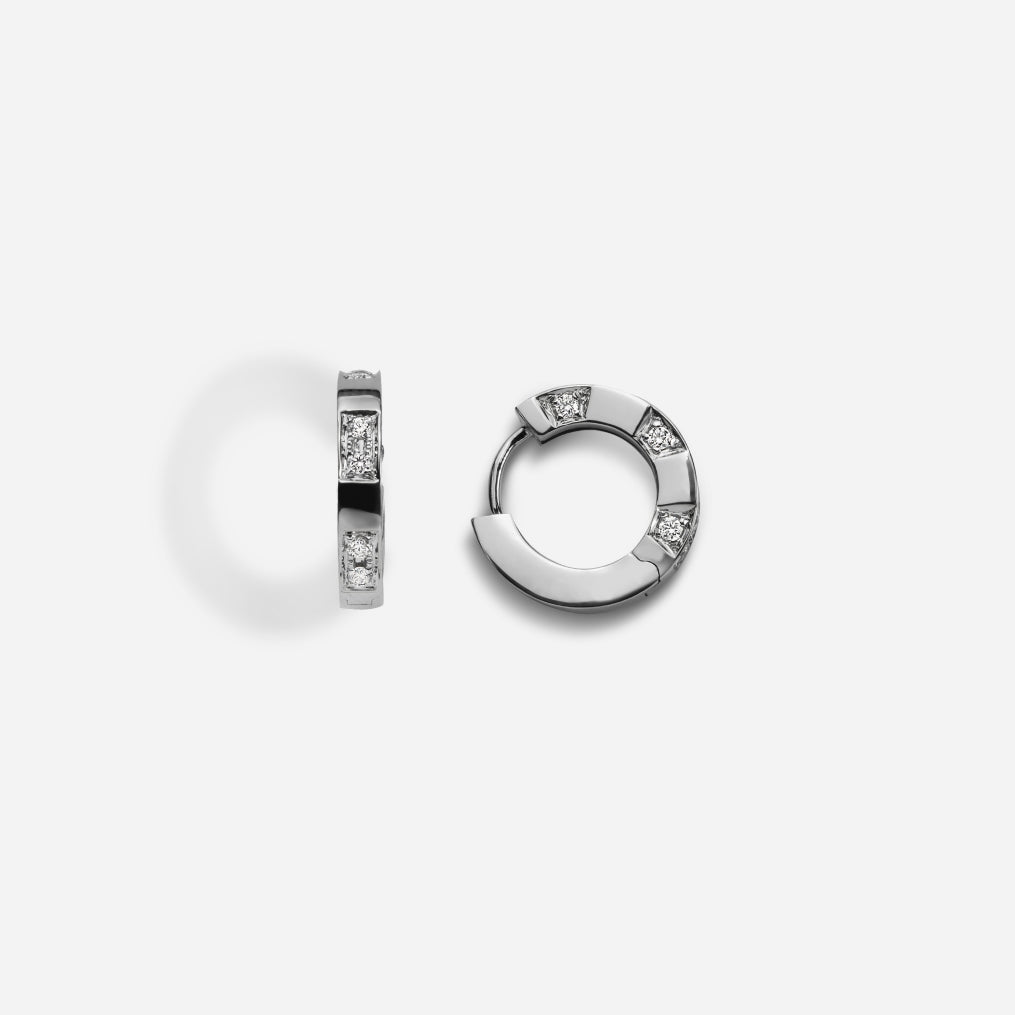 Savor 18k White Gold Diamond Earring